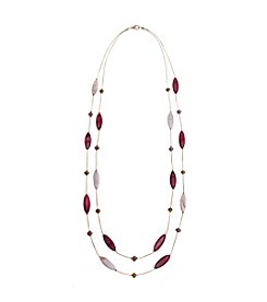 Erica Lyons® Double Row Illusion Station Necklace