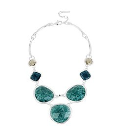 Kenneth Cole® Mixed Crackle Stone Frontal Necklace