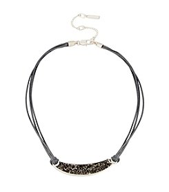 Kenneth Cole® Sprinkle Stone Bar Frontal Necklace