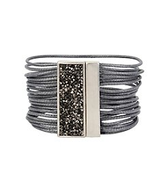 Kenneth Cole® Sprinkle Stone Bar Multi Row Bracelet