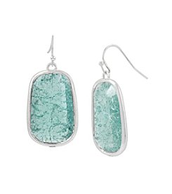 Kenneth Cole® Crackle Stone Drop Earrings