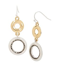 Kenneth Cole® Circle Double Drop Earrings