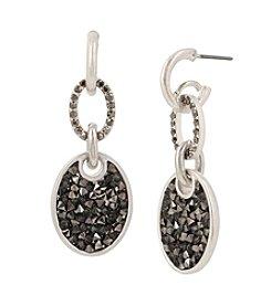 Kenneth Cole® Sprinkle Stone Oval Drop Earrings