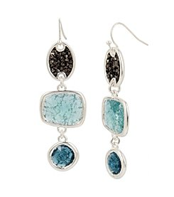 Kenneth Cole® Mixed Crackle Stone Linear Earrings