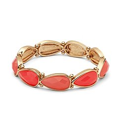 Nine West® Teardrop Faceted Stone Stretch Bracelet
