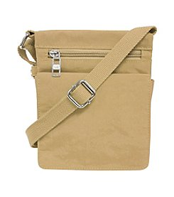 GAL Crushed Nylon Mini Flap Crossbody With Back Organizer