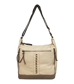 GAL Pearlized Double Entry Bucket Hobo Crossbody