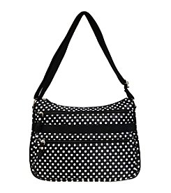 GAL Printed Nylon Multi Pocket Hobo Crossbody