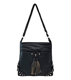 GAL Elephant Grained Washed Top Zipper Crossbody