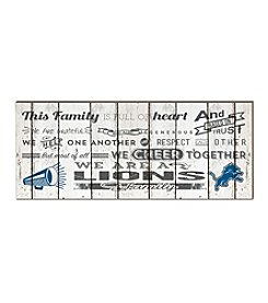 Kindred Hearts NFL® Detroit Lions Family Cheer Wall Art