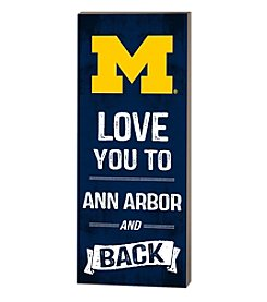 Kindred Hearts NCAA® Michigan Wolverines Love You Pallet