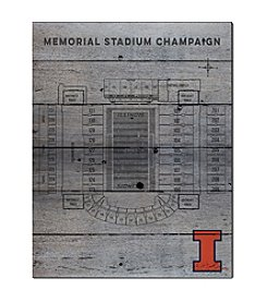 Kindred Hearts NCAA® Illinois Fighting Illini Stadium Pallet Wall Art