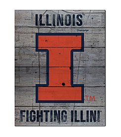 Kindred Hearts NCAA® Illinois Fighting Illini Road to Victory Pallet Wall Art