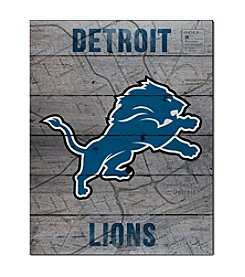 Kindred Hearts NFL® Detroit Lions Road To Victory Pallet Wall Art