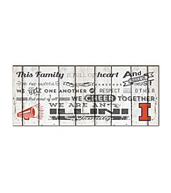 Kindred Hearts NCAA® Illinois Fighting Illini Family Cheer Wall Art