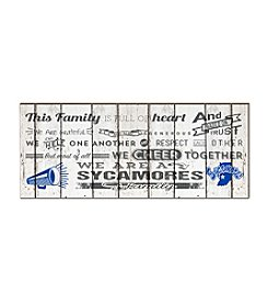 Kindred Hearts NCAA® Indiana State Sycamores Family Cheer Wall Art