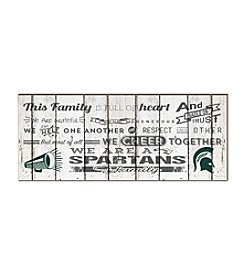 Kindred Hearts NCAA® Michigan State Spartans Family Cheer Wall Art