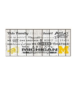Kindred Hearts NCAA® Michigan Wolverines Family Cheer Wall Art