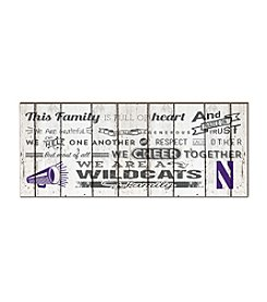 Kindred Hearts NCAA® Northwestern Wildcats Family Cheer Wall Art