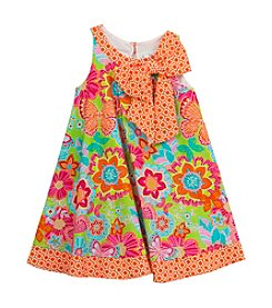 Rare Editions® Girls' 2T-6X Floral Dress With Bow