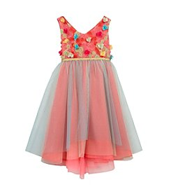 Rare Editions® Girls' 4-6X Multi-Color Soutache Dress