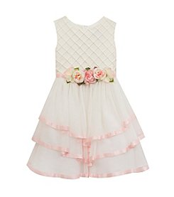 Rare Editions® Girls' 7-16 Pintuck Top Linen Dress