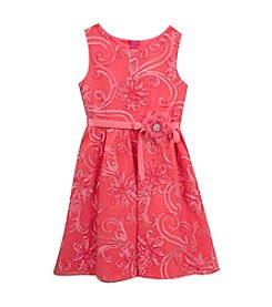 Rare Editions® Girls' 2T-6X All Over Soutache Dress