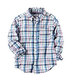 Carter's® Boys' 2T-4T Plaid Long Sleeve Woven Top