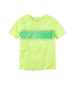 Carter's® Boys' 2T-8 Short Sleeve Striped Pocket Tee