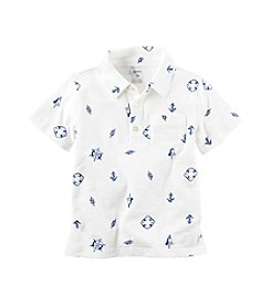 Carter's® Boys' 2T-8 Short Sleeve Nautical Polo