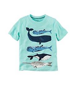 Carter's® Boys' 2T-7 Short Sleeve Whale Tee