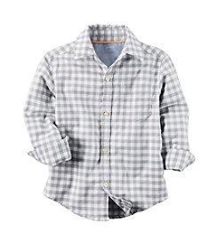 Carter's® Boys' 2T-7 Plaid Long Sleeve Woven Top