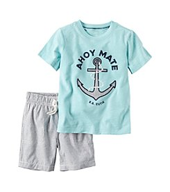 Carter's® Boys' 2T-4T 2-Piece Ahoy Shirt And Short Set