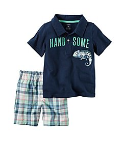 Carter's® Boys' 2T-4T 2-Piece Handsome Shirt And Plaid Short Set