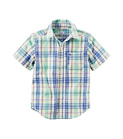 Carter's® Boys' 4-8 Plaid Short Sleeve Woven Top