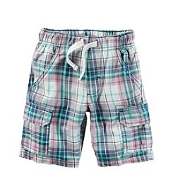 Carter's® Boys' 2T-8 Plaid Cargo Shorts