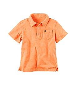 Carter's® Boys' 2T-7 Solid Short Sleeve Polo