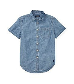 Polo Ralph Lauren® Boys' 8-20 Short Sleeve Button Down Top