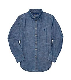 Polo Ralph Lauren® Boys' 8-20 Long Sleeve Chambray Top