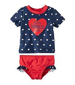 Carter's® Baby Girls' 2-Piece Rashguard Swim Set