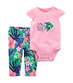 Carter's® Baby Girls' 2-Piece Cutie Bodysuit And Floral Leggings Set
