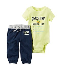 Carter's® Baby Boys 2-Piece Beach Bodysuit And Pant Set