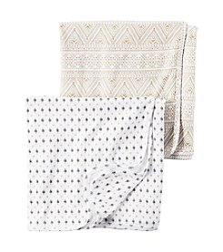 Carter's® Baby Girls' 2-Pack Geo Swaddle Blankets