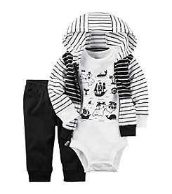 Carter's® Baby Boys 3-Piece Map bodysuit And Cardigan Set