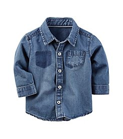 Carter's® Baby Boys Chambray Botton Front Shirt