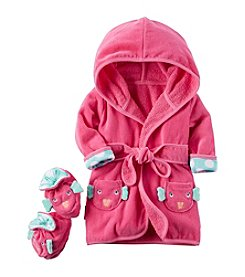 Carter's® Baby Girls' 2-Piece Fish Robe And Booties Set