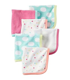 Carter's® Baby Girls' 6-Pack Multi Washcloths