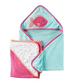 Carter's® Baby Girls' 2-Pack Hooded Towels