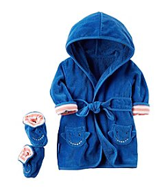 Carter's® Baby Boys 2-Piece Shark Robe And Booties Set