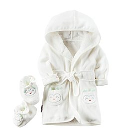 Carter's® Baby 2-Piece Owl Robe And Booties Set